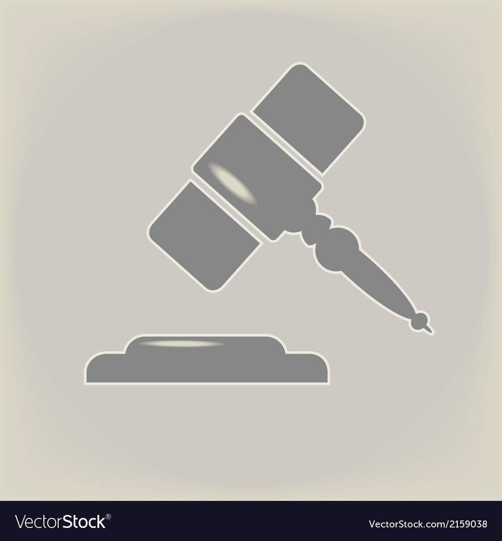 Hammer of judge vector | Price: 1 Credit (USD $1)