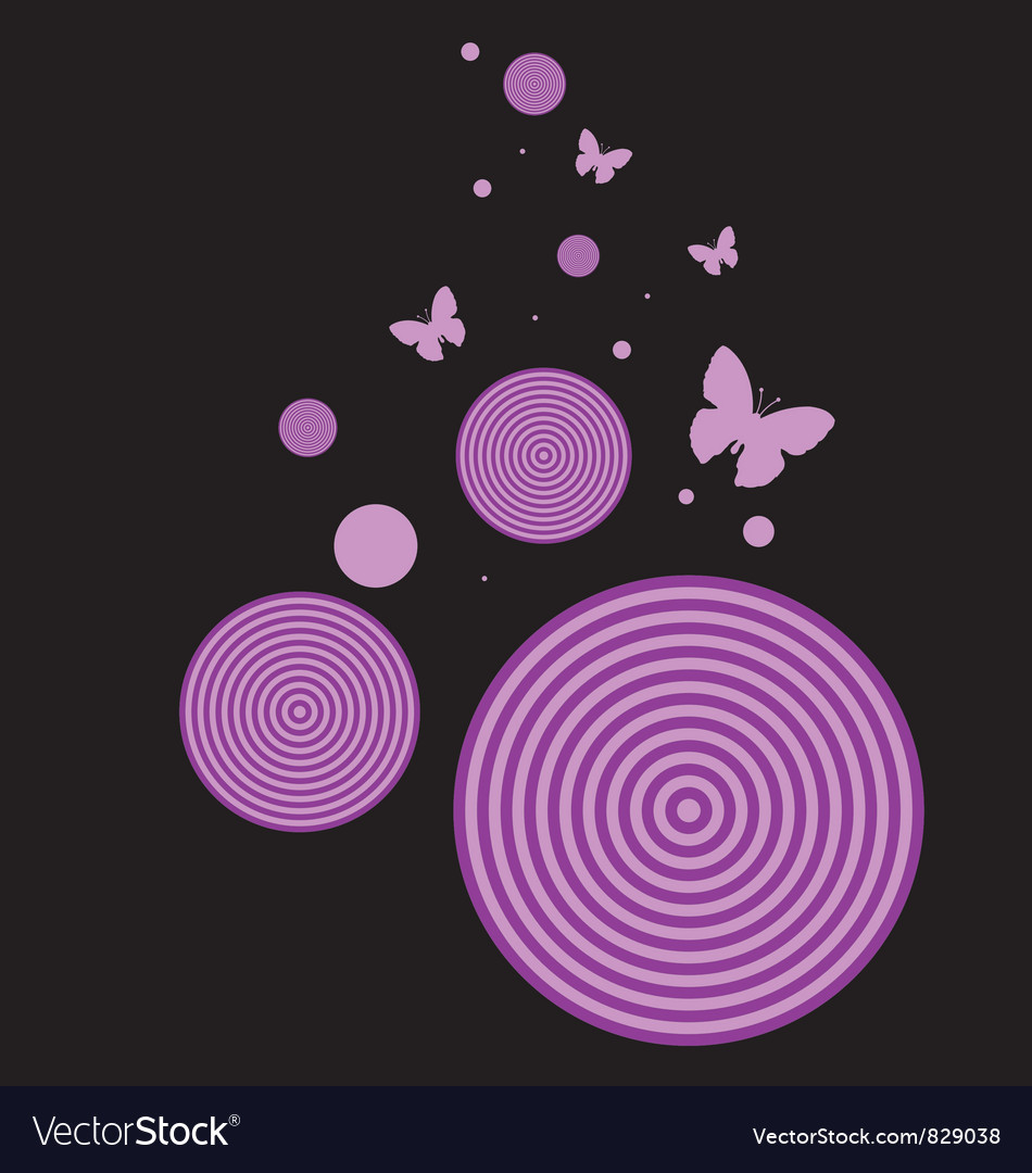 Retro butterfly background vector | Price: 1 Credit (USD $1)