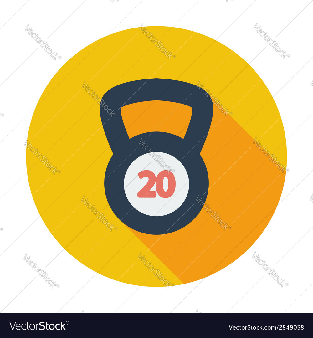 Sport weight single icon vector | Price: 1 Credit (USD $1)