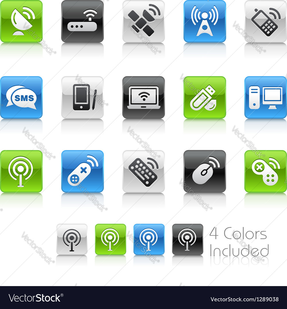 Wireless communications clean series vector | Price: 1 Credit (USD $1)