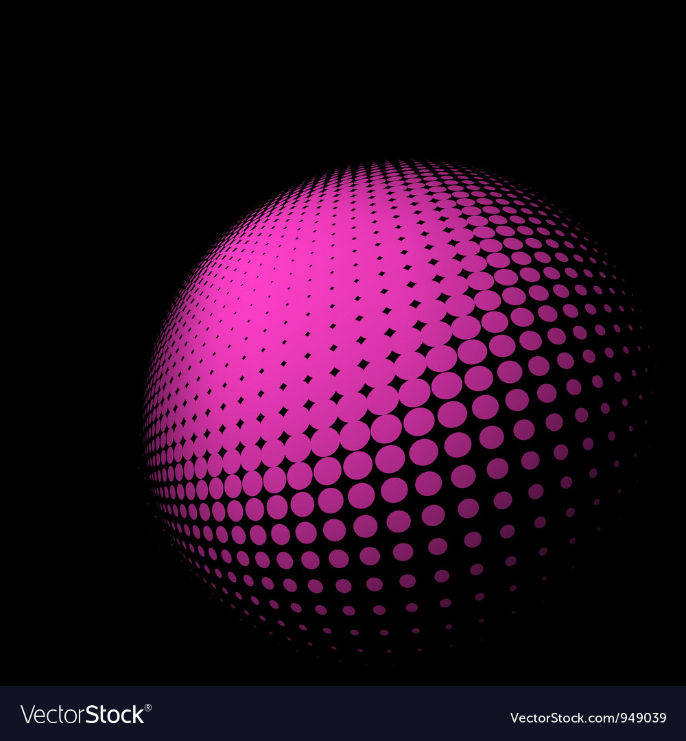 Abstract halftone sphere vector | Price: 1 Credit (USD $1)