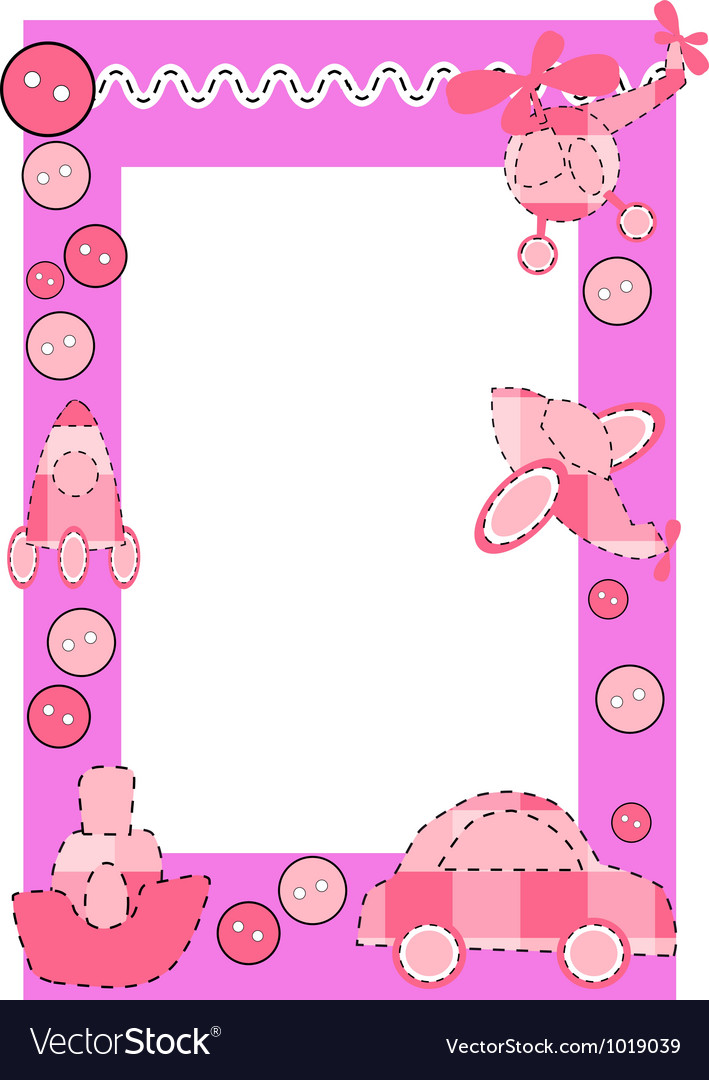 Baby frame or greeting card vector | Price: 1 Credit (USD $1)