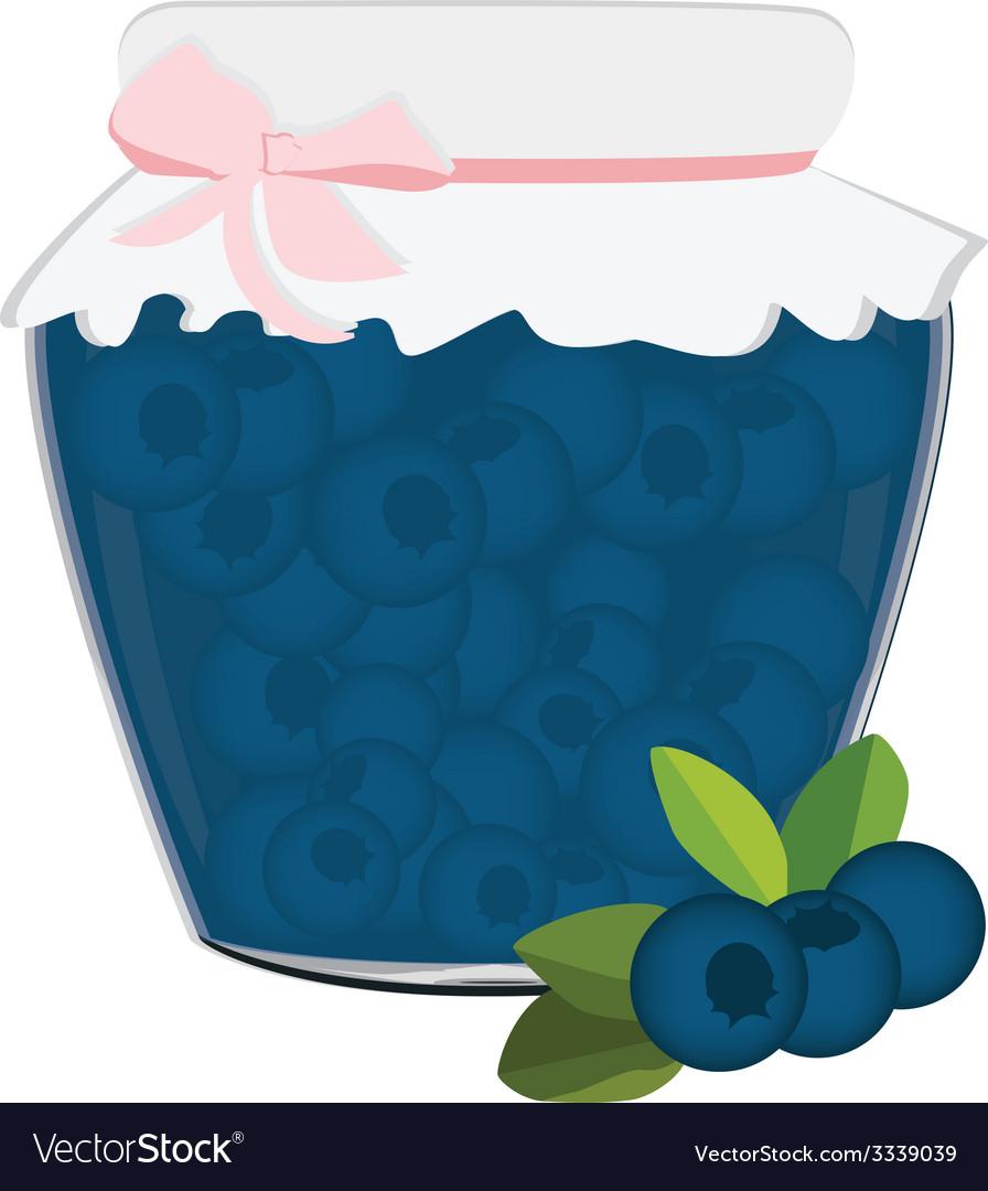 Blueberrry jam vector | Price: 1 Credit (USD $1)