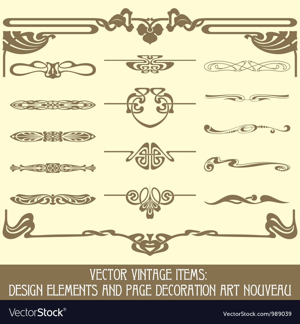 Design elements and page decoration vector | Price: 1 Credit (USD $1)