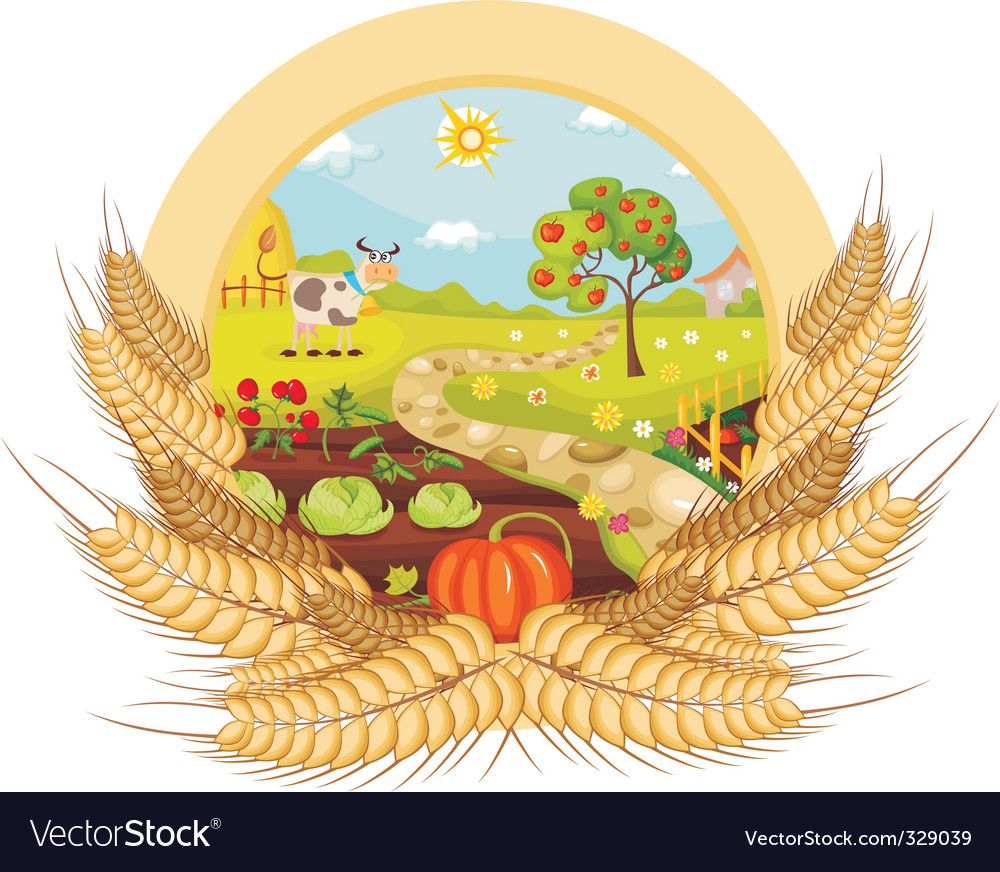 Farm card vector | Price: 1 Credit (USD $1)