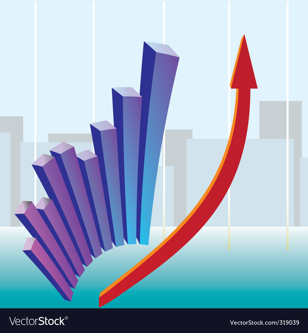 Growth chart vector | Price: 1 Credit (USD $1)