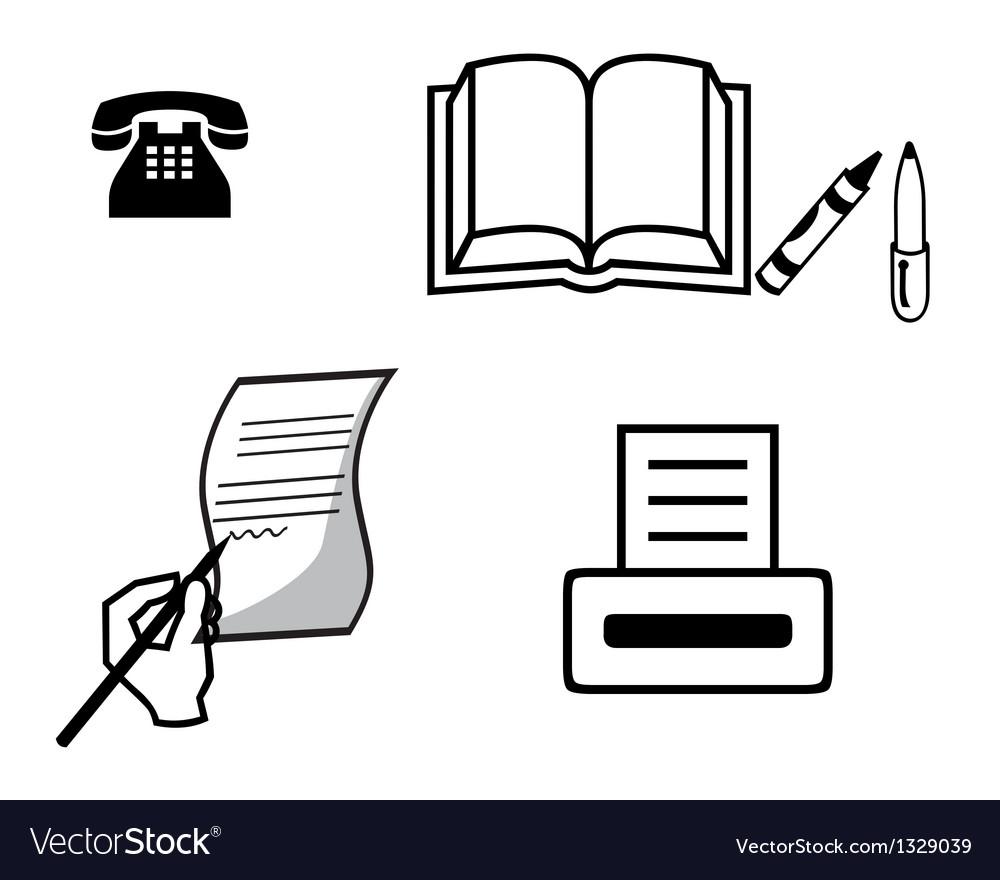 Hand handle phone printer notebook vector | Price: 1 Credit (USD $1)