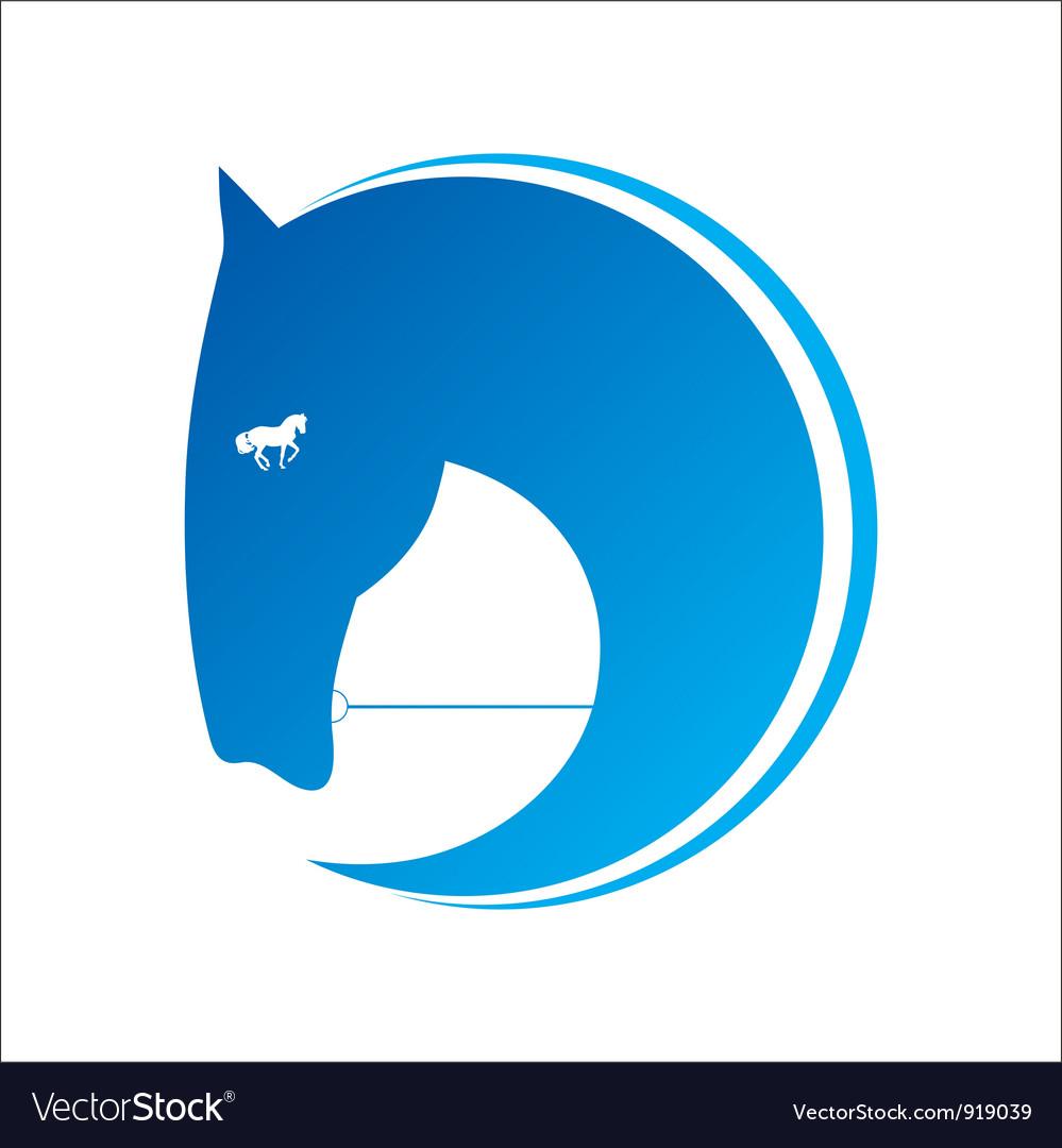 Horse symbol vector | Price: 1 Credit (USD $1)