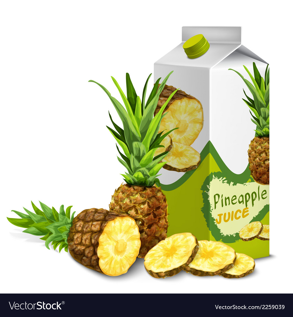 Juice pack pineapple vector | Price: 1 Credit (USD $1)