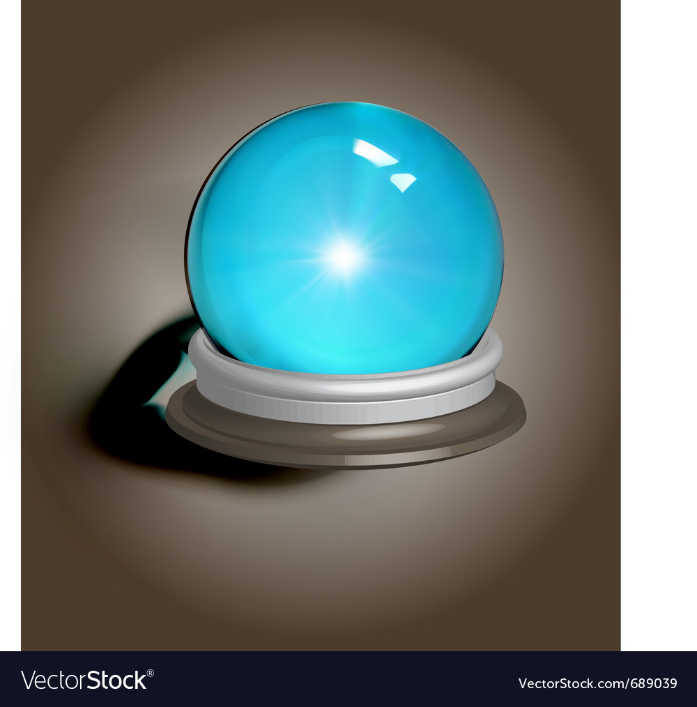Magic crystal ball vector | Price: 1 Credit (USD $1)