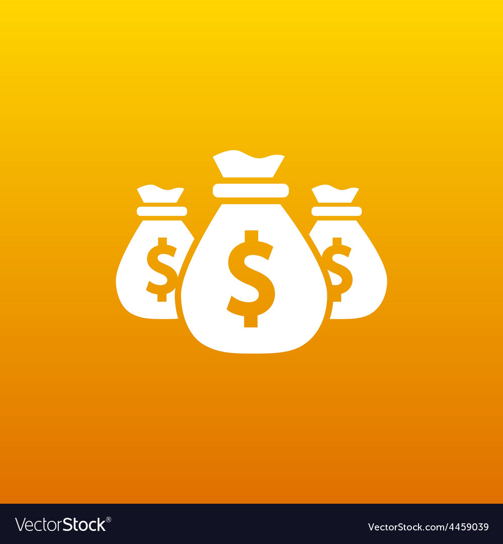 Money bags edit layers icon funds buy vector | Price: 1 Credit (USD $1)