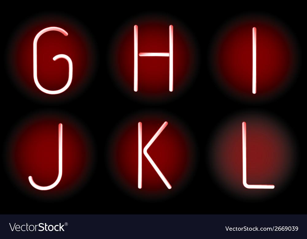 Neon alphabet vector | Price: 1 Credit (USD $1)