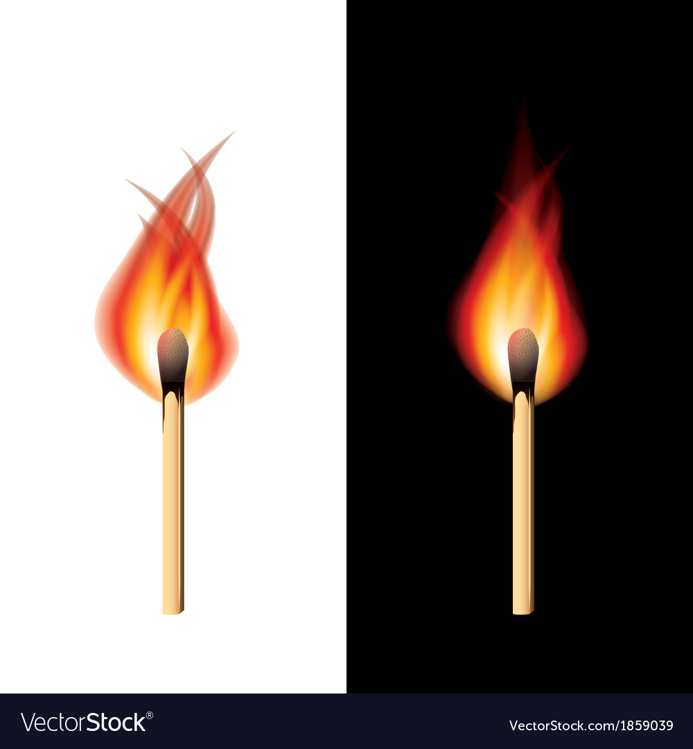 Object fire match vector | Price: 1 Credit (USD $1)