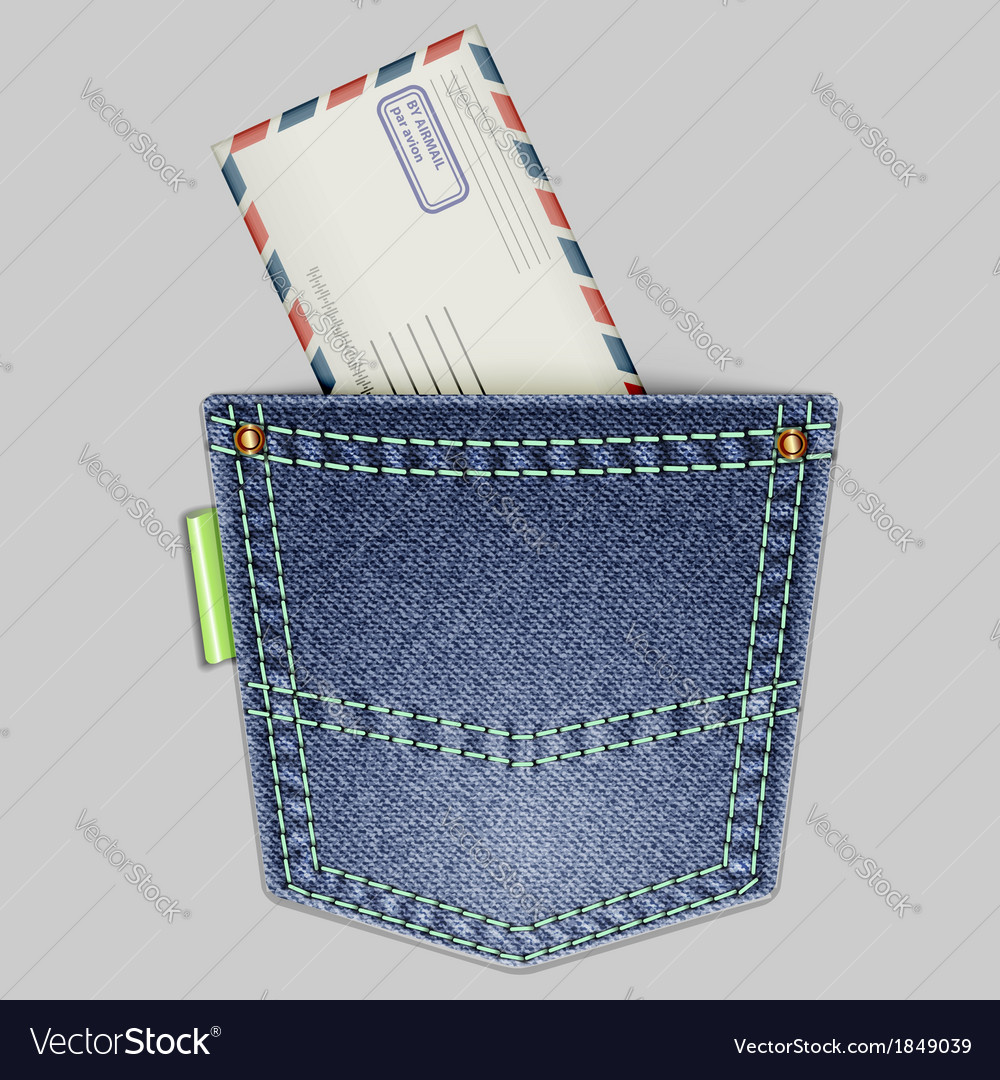 Pocket and envelope vector | Price: 1 Credit (USD $1)