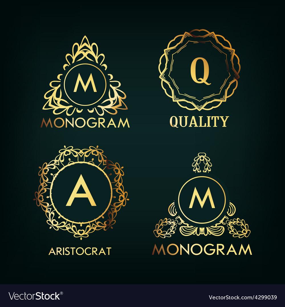 Set of luxury simple and elegant monogram vector   Price: 1 Credit (USD $1)