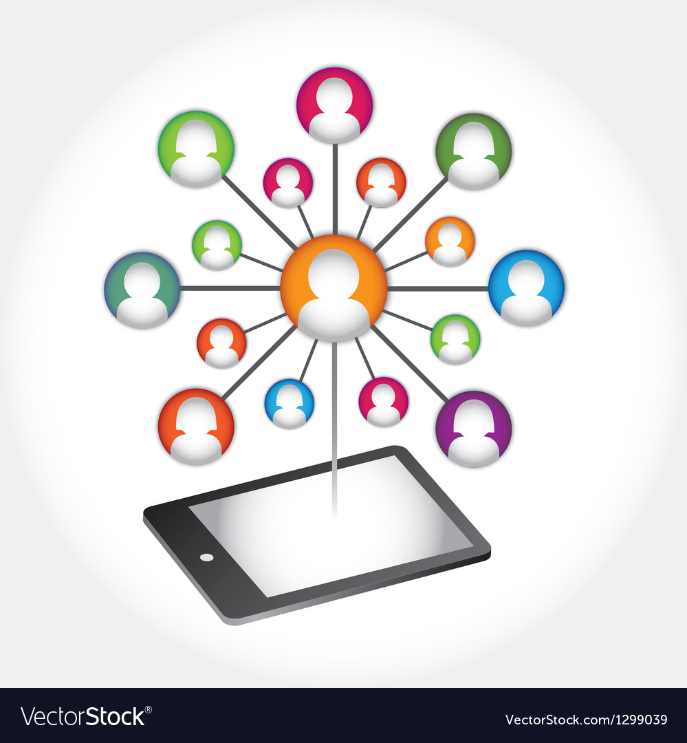 Social media abstract communication vector | Price: 1 Credit (USD $1)