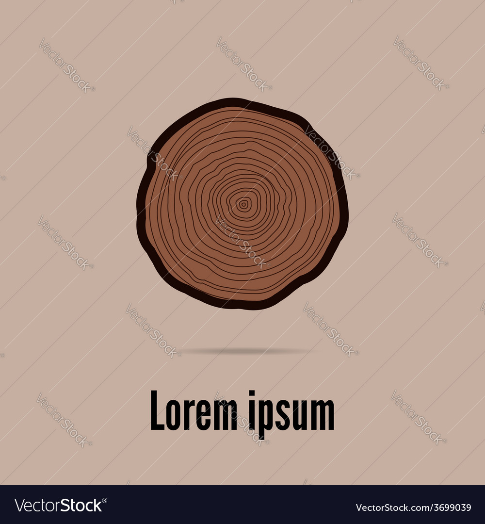 Tree rings background vector | Price: 1 Credit (USD $1)