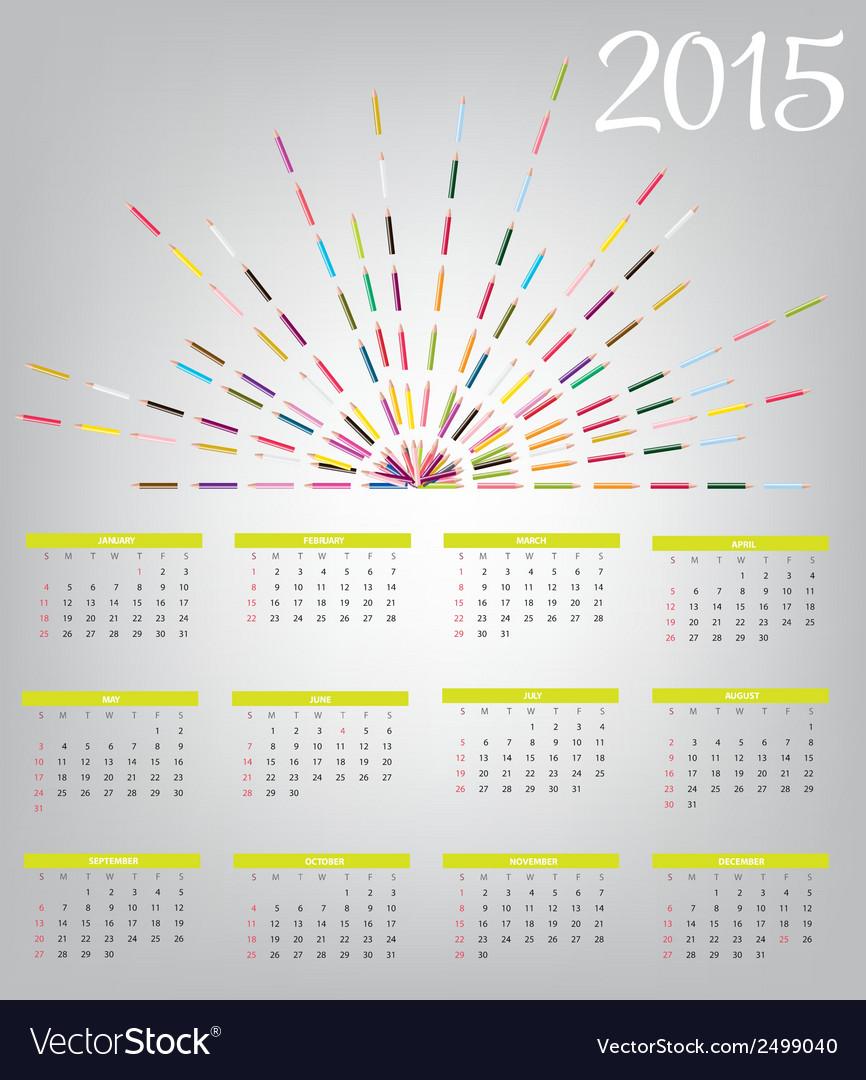 2015 new year calendar vector   Price: 1 Credit (USD $1)