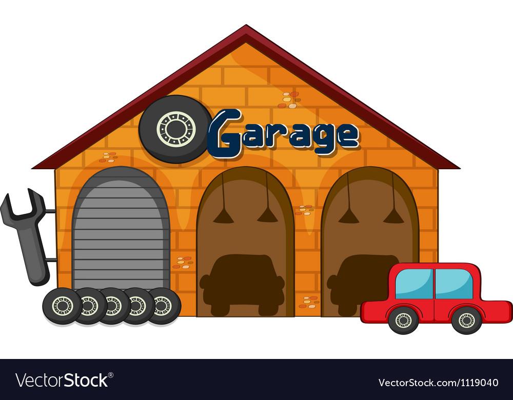 A garage shop vector | Price: 1 Credit (USD $1)