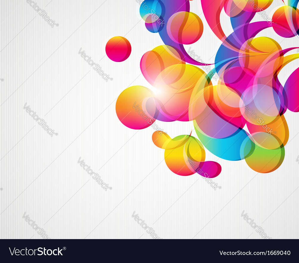 Abstract background with bright circles and vector | Price: 1 Credit (USD $1)