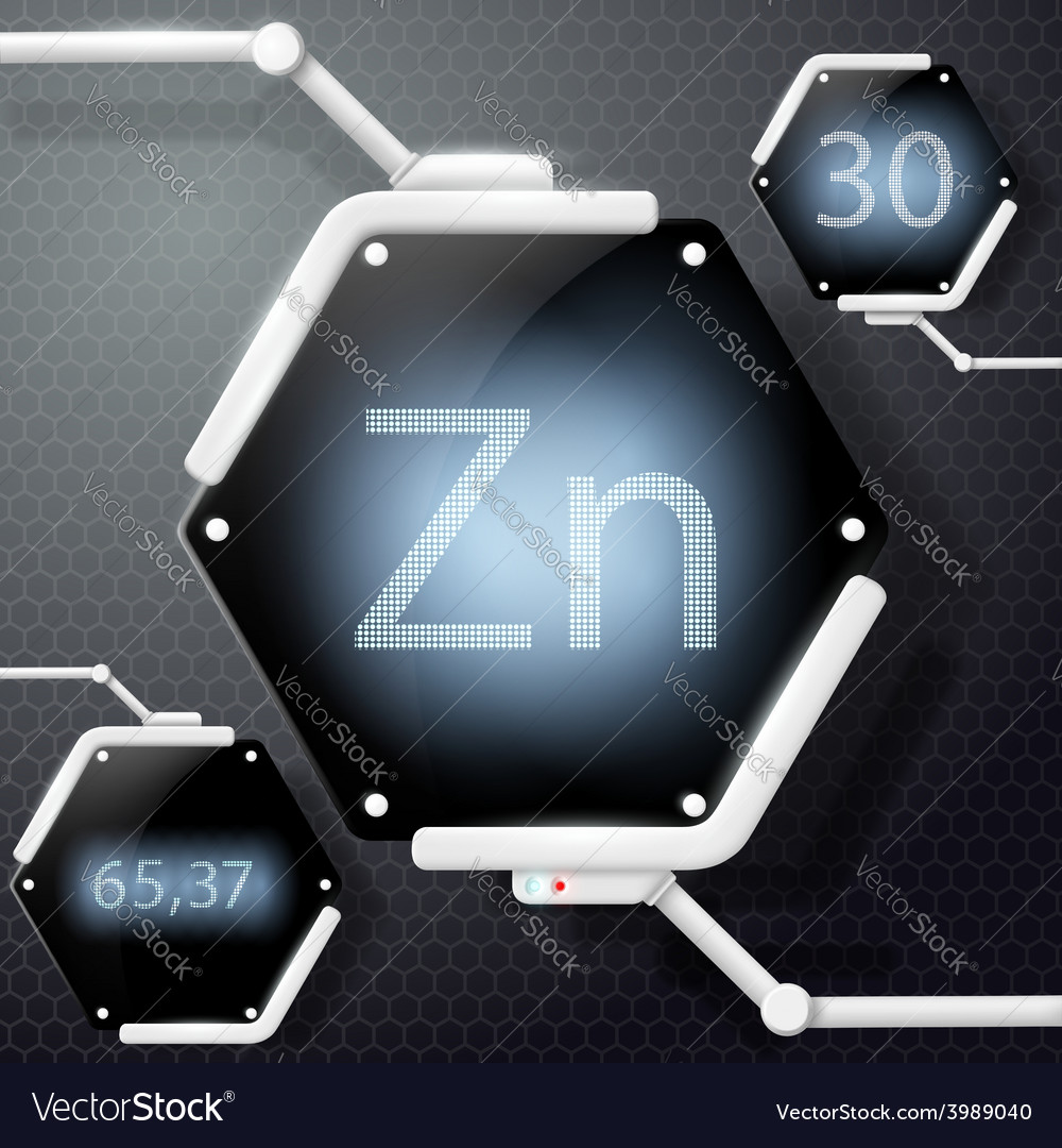 Chemical element zinc vector | Price: 1 Credit (USD $1)
