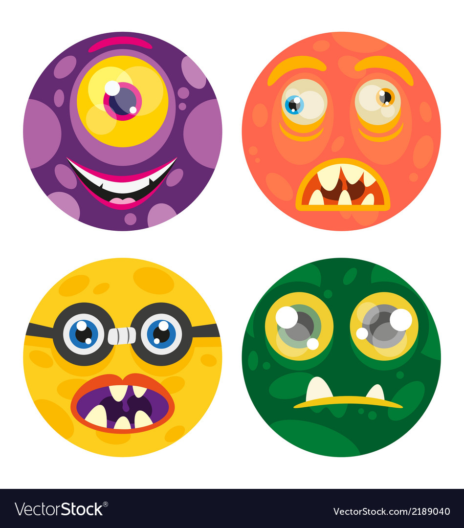 Cute monster v1 vector | Price: 1 Credit (USD $1)