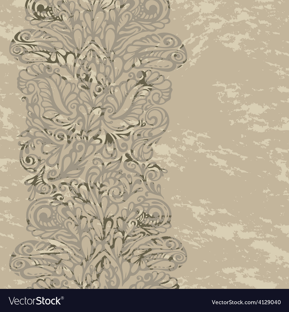 Floral design border in renaissance style vector | Price: 1 Credit (USD $1)