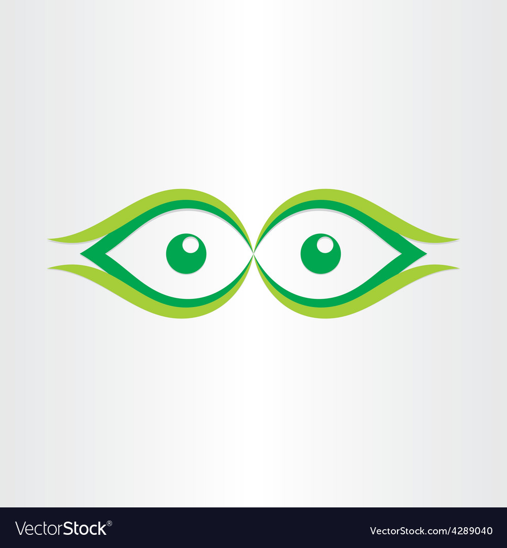 Human eyes stylized icon vector | Price: 1 Credit (USD $1)