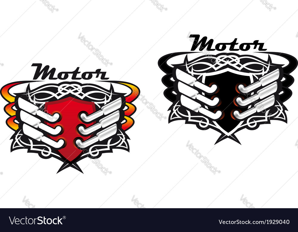 Motor sports icons vector | Price: 1 Credit (USD $1)