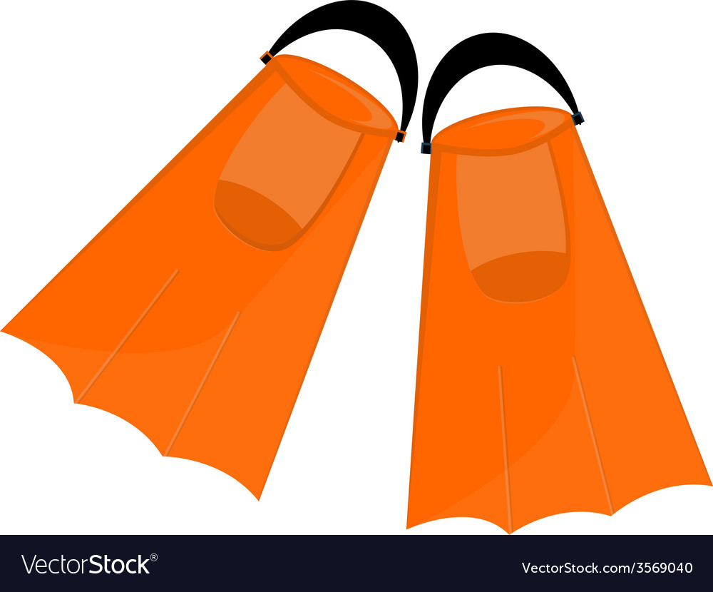 Orange flippers vector | Price: 1 Credit (USD $1)
