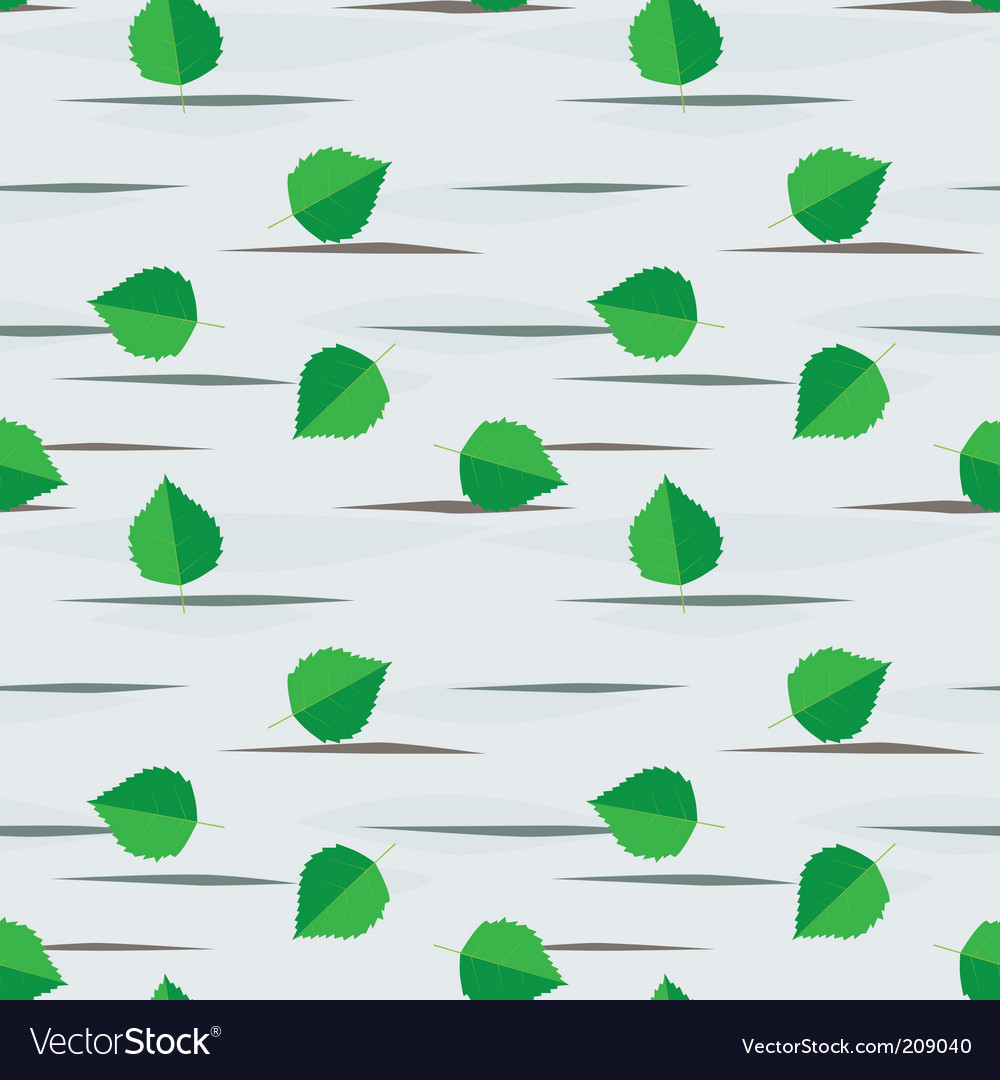Seamless background from birch leaves vector | Price: 1 Credit (USD $1)