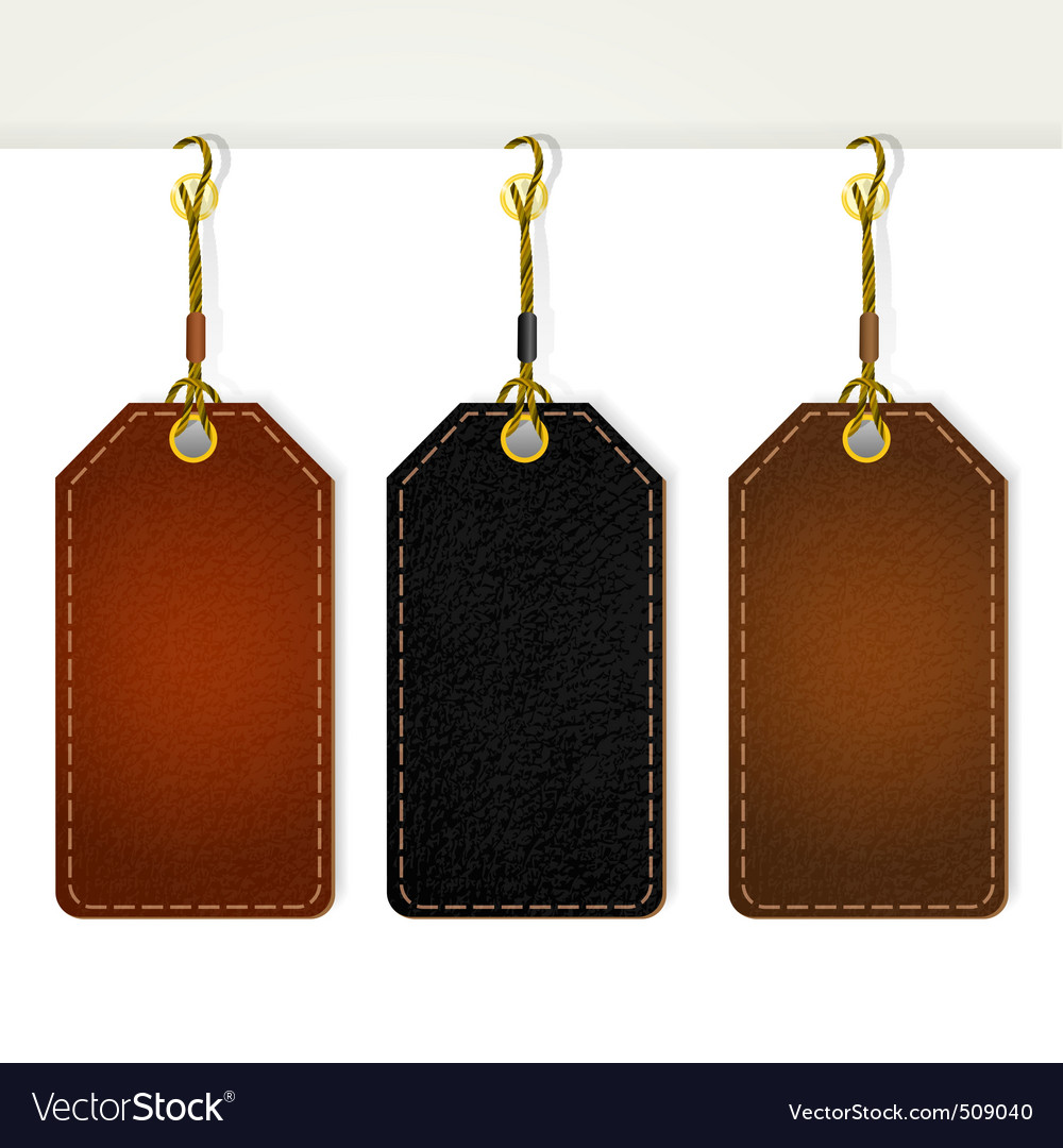 Set of leather tag labels vector | Price: 1 Credit (USD $1)