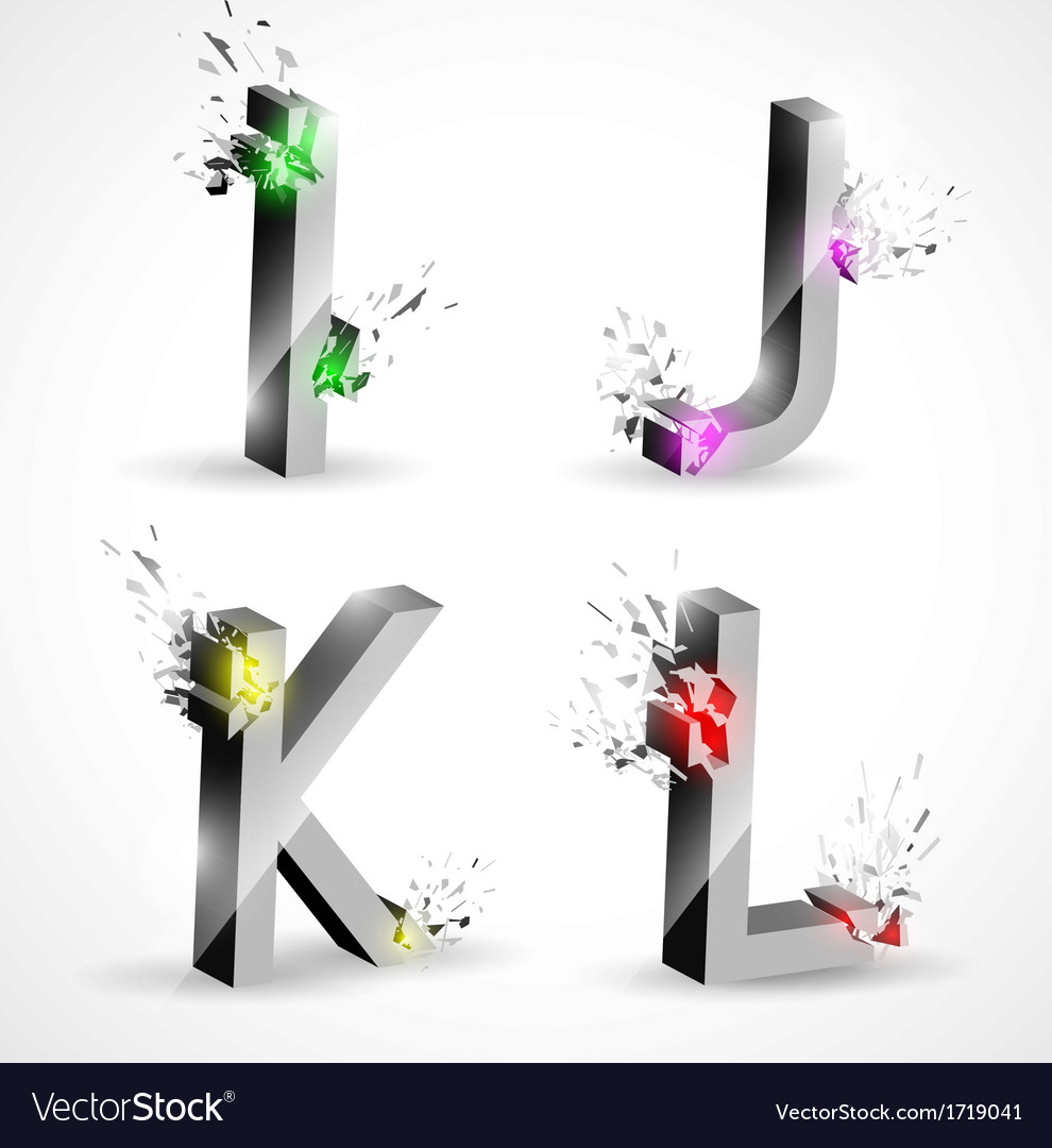 3d shiny explosion alphabet vector | Price: 1 Credit (USD $1)