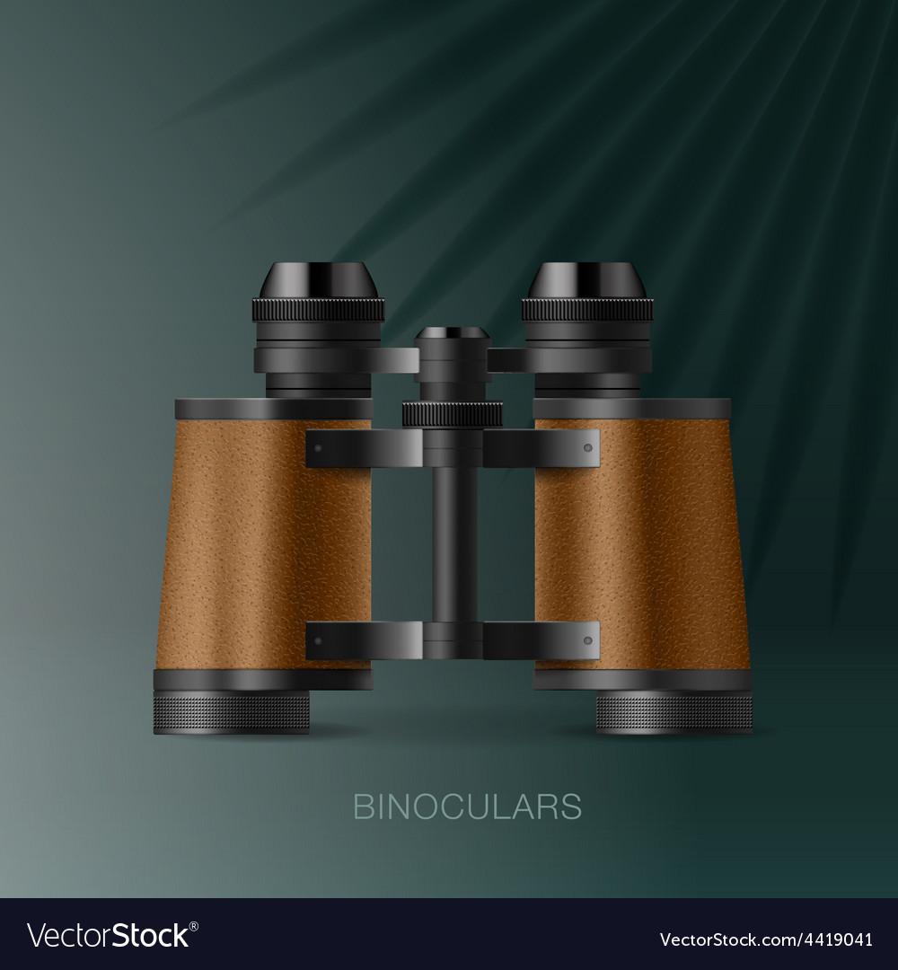 Binoculars adventure concept for scientific vector | Price: 3 Credit (USD $3)