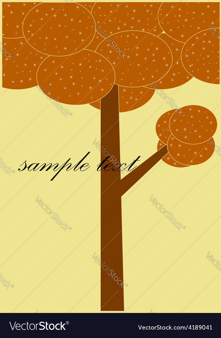 Card patterned brown tree vector | Price: 1 Credit (USD $1)