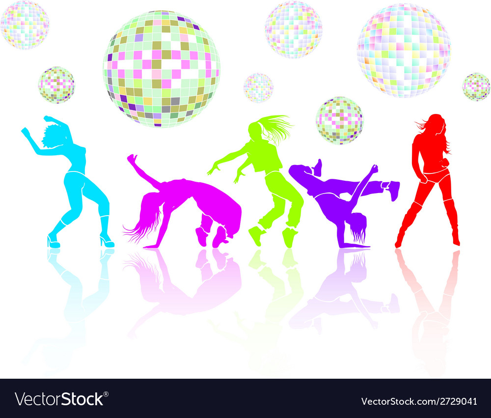 Girl dance vector | Price: 1 Credit (USD $1)