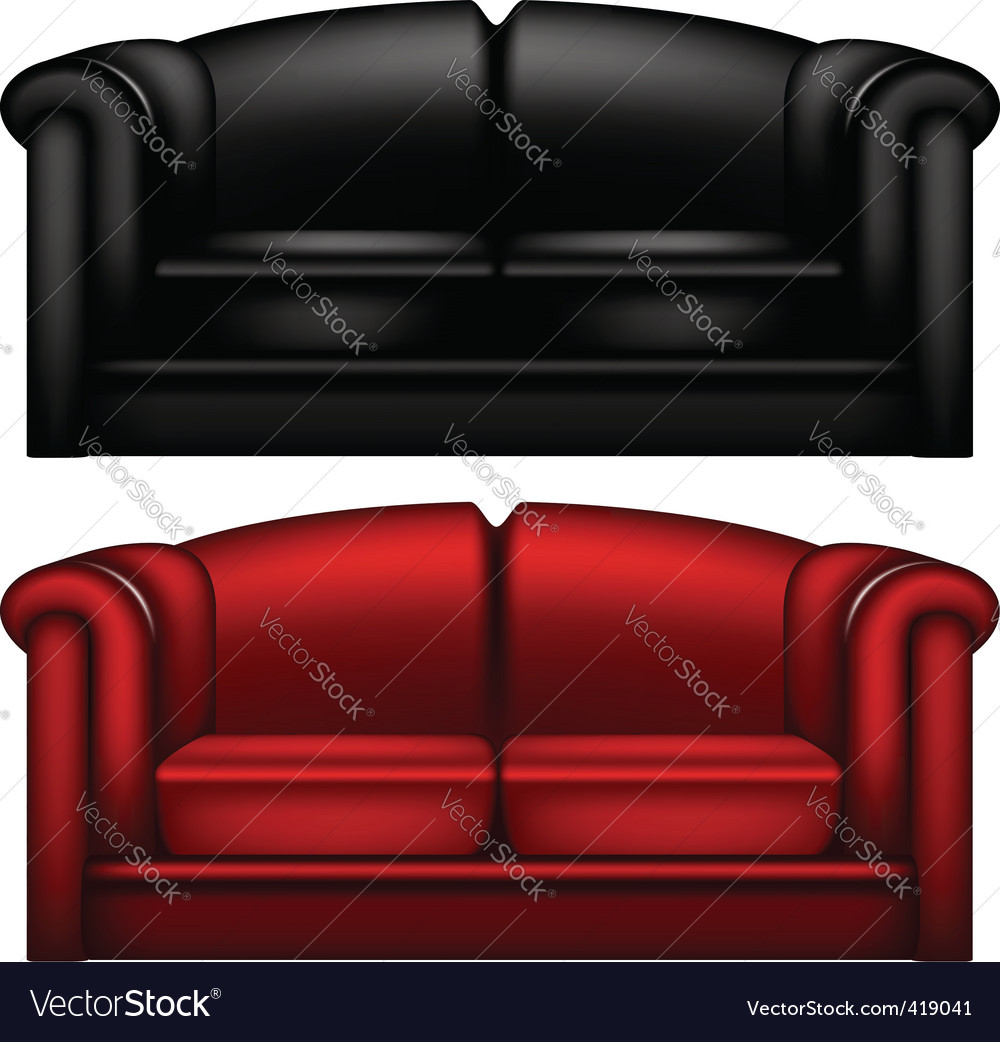 Leather sofa vector | Price: 1 Credit (USD $1)