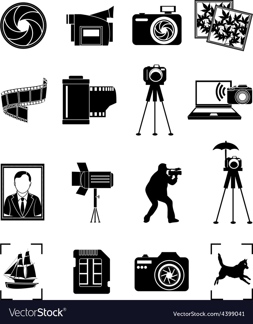 Photography icons set vector | Price: 3 Credit (USD $3)