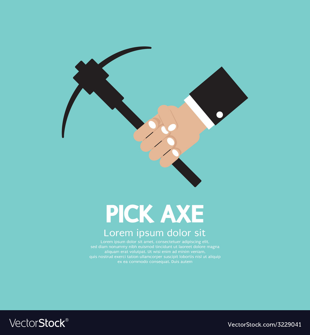 Pick axe in hand vector | Price: 1 Credit (USD $1)