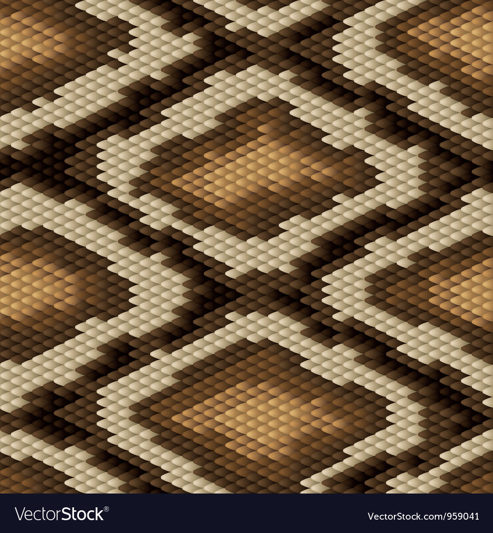 Seamless python snake skin pattern vector | Price: 1 Credit (USD $1)