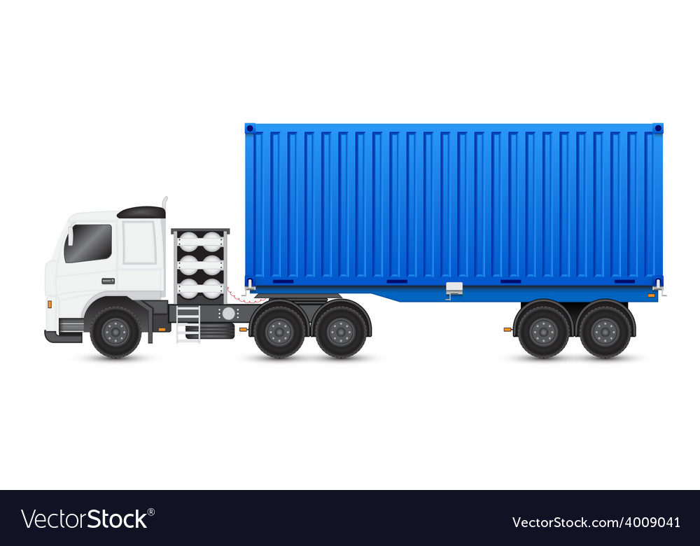 Truck blue vector | Price: 1 Credit (USD $1)