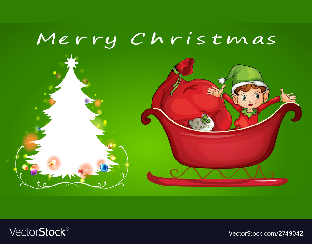 A christmas card template vector   Price: 1 Credit (USD $1)