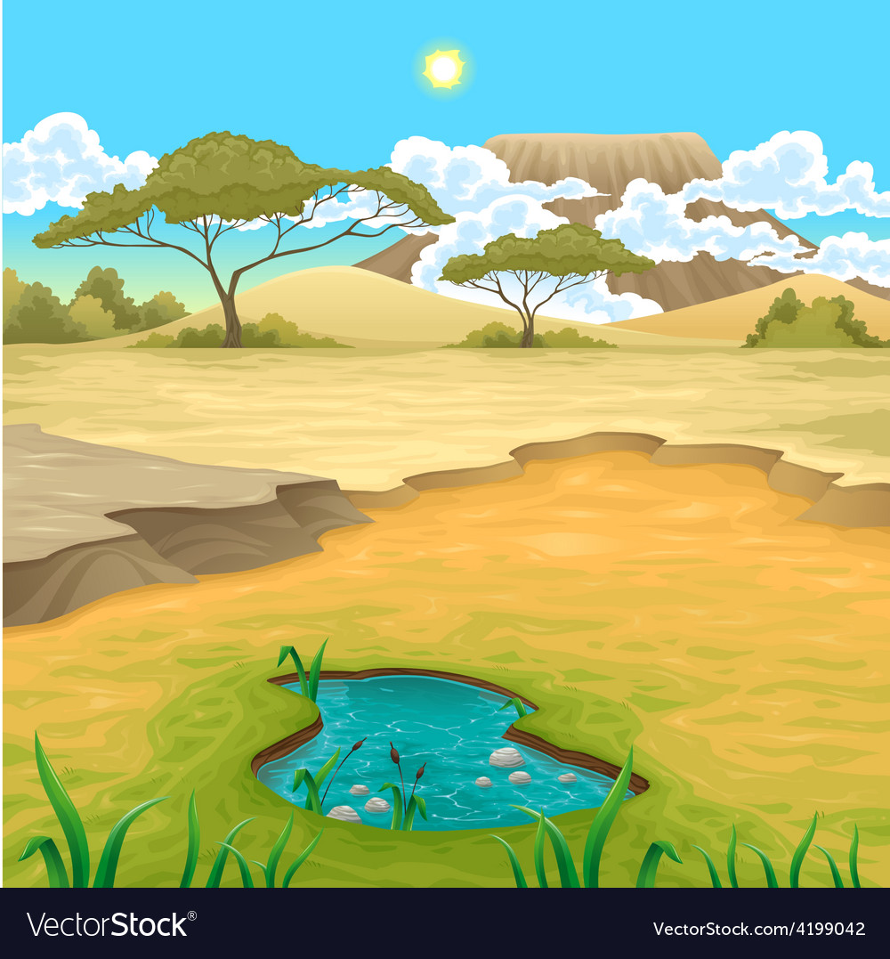 African landscape vector | Price: 3 Credit (USD $3)