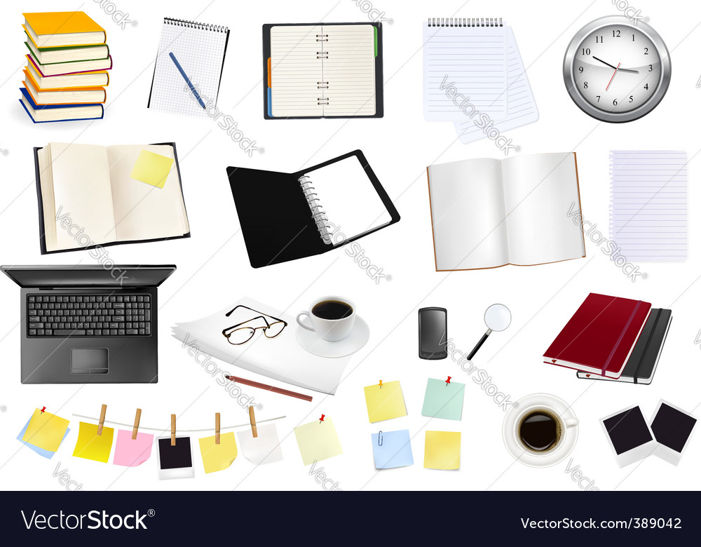 Collection of business elements copy vector | Price: 1 Credit (USD $1)