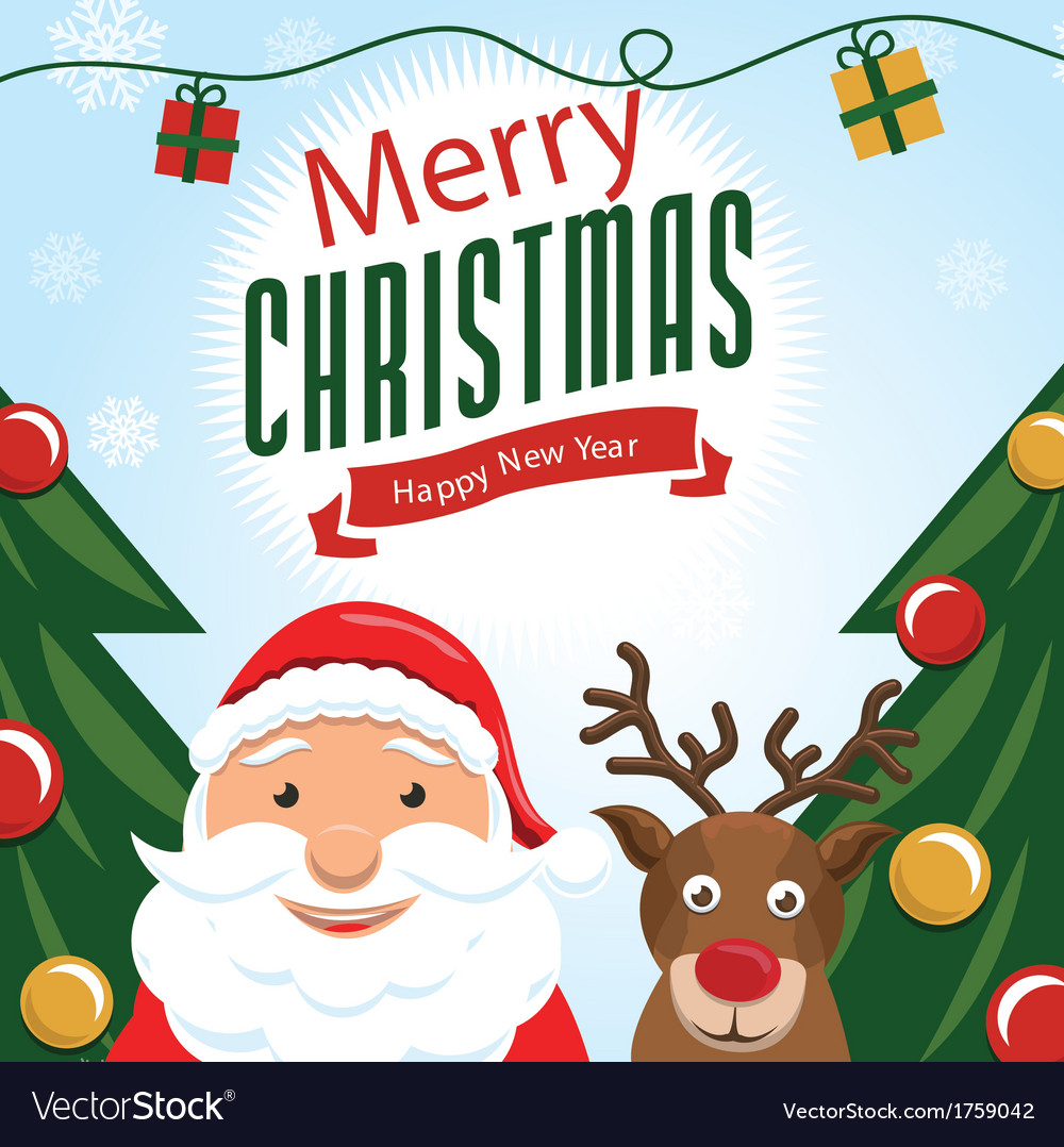 Cute christmas card 2 vector | Price: 1 Credit (USD $1)