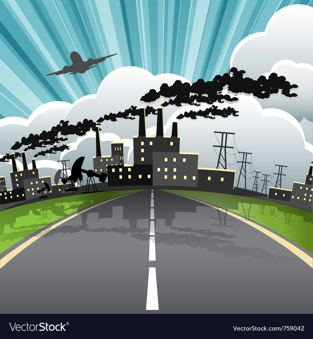 Industrial city vector | Price: 3 Credit (USD $3)