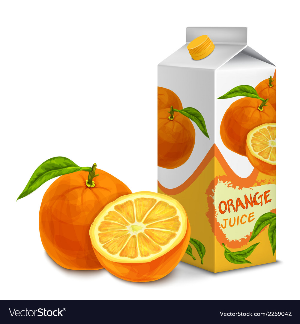 Juice pack orange vector | Price: 1 Credit (USD $1)