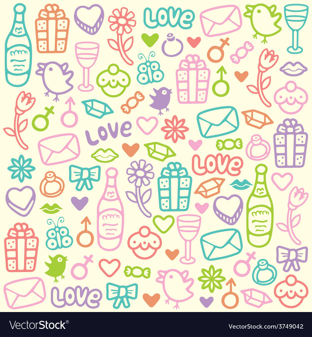 Love pattern vector | Price: 1 Credit (USD $1)