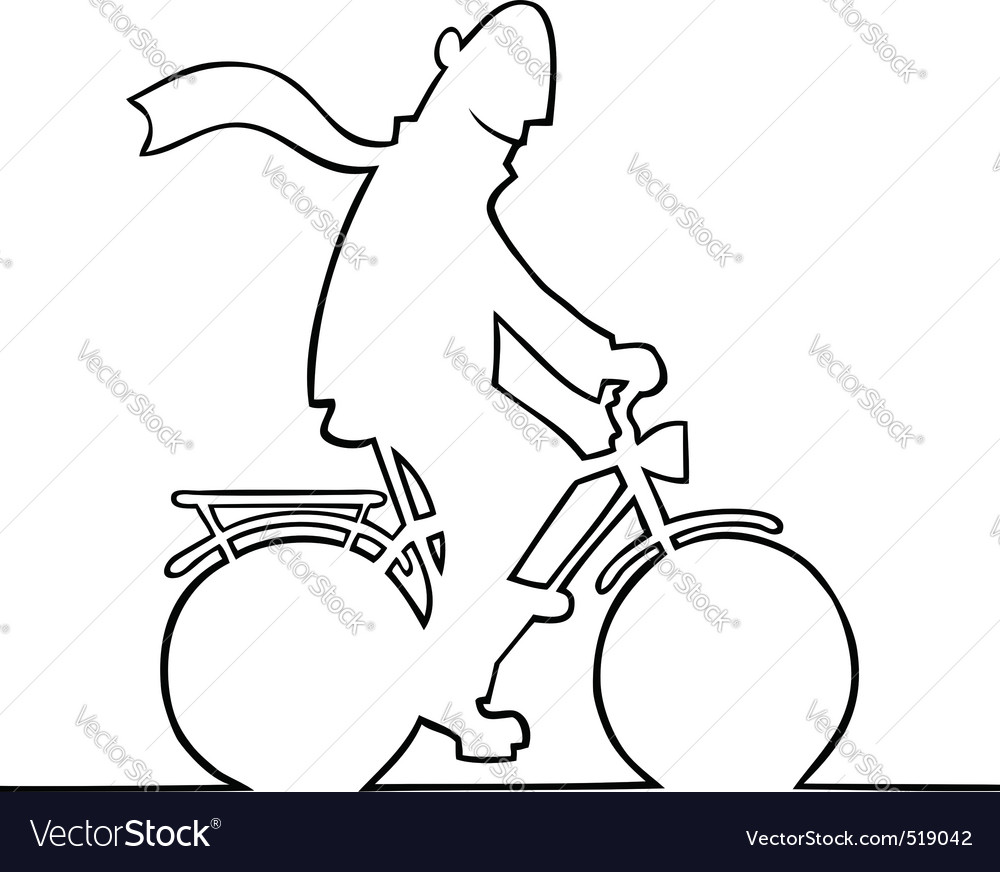 Man on bike vector | Price: 1 Credit (USD $1)