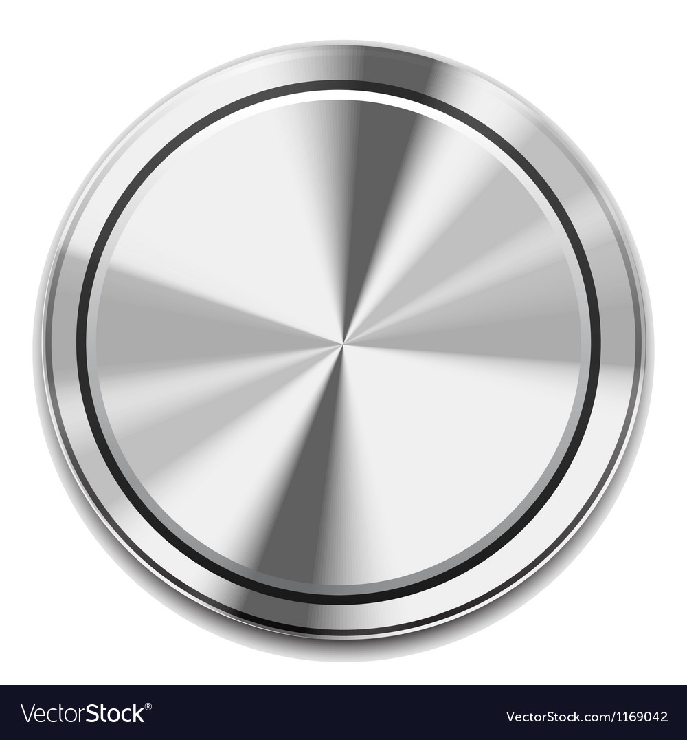 Metal button icon vector | Price: 1 Credit (USD $1)